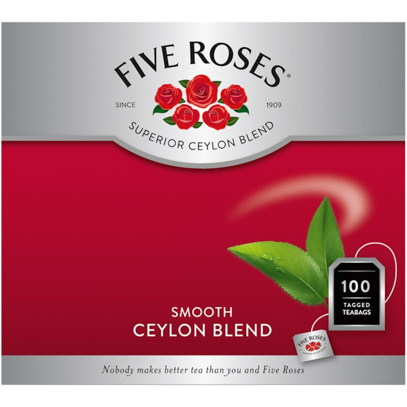 FIVE ROSES TEABAGS TAGGED – 100S