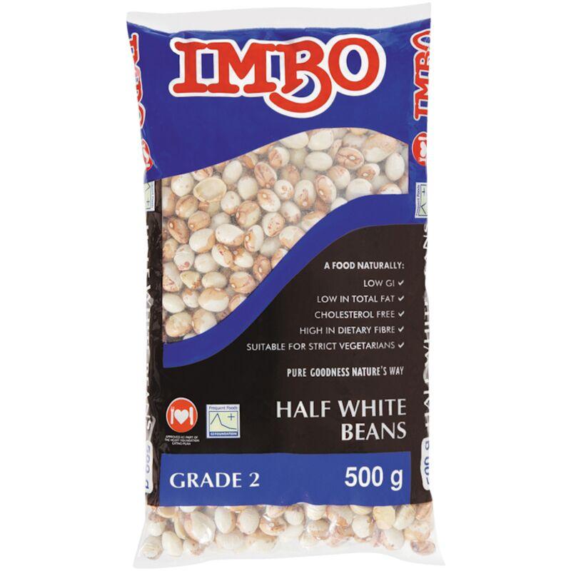 IMBO RED SPECKLED BEANS HALF WHITE – 500G
