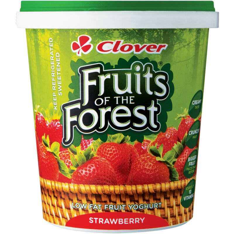 CLOVER FRUITS OF THE FOREST YOGHURT STRAWBERRY – 1L