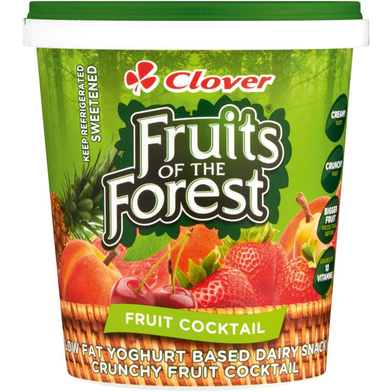 CLOVER FRUITS OF THE FOREST YOGHURT FRUIT COCKTAIL – 1L