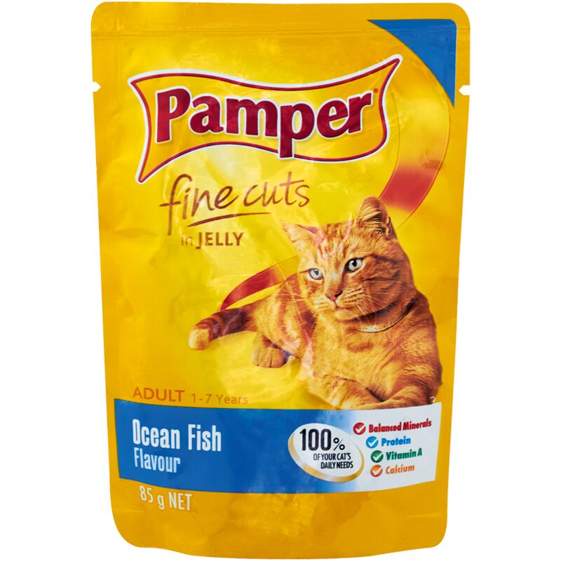PAMPER FINE CUTS OCEAN FISH – 85G