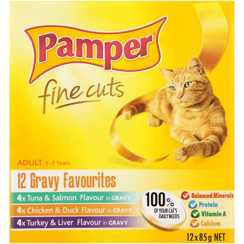 PAMPER FINE CUTS GRAVY FAV MULTIPACKS 12S – 85G