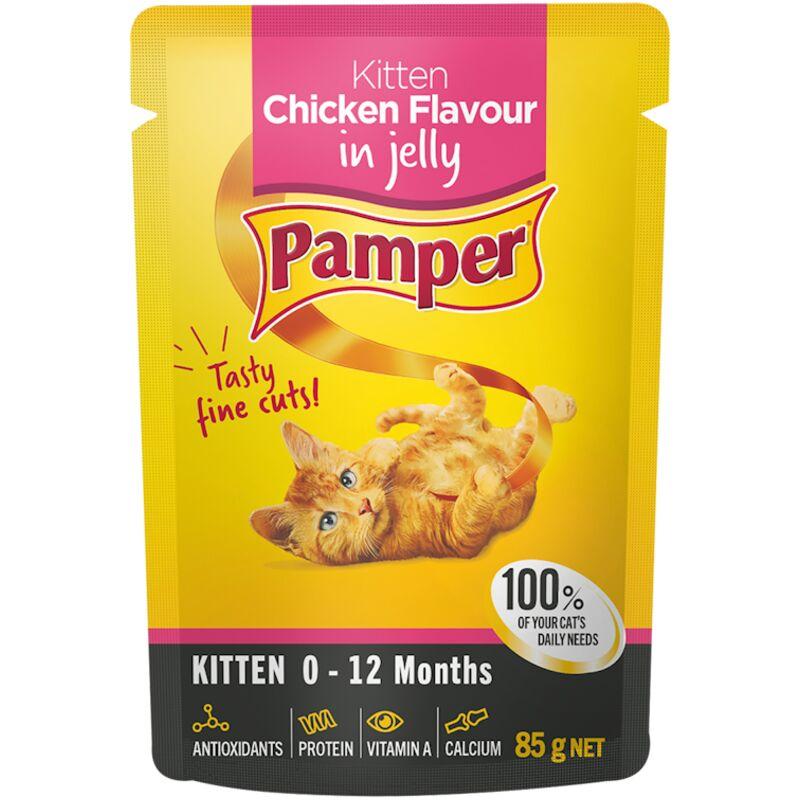 PAMPER FINE CUTS KITTEN CHKN – 85G