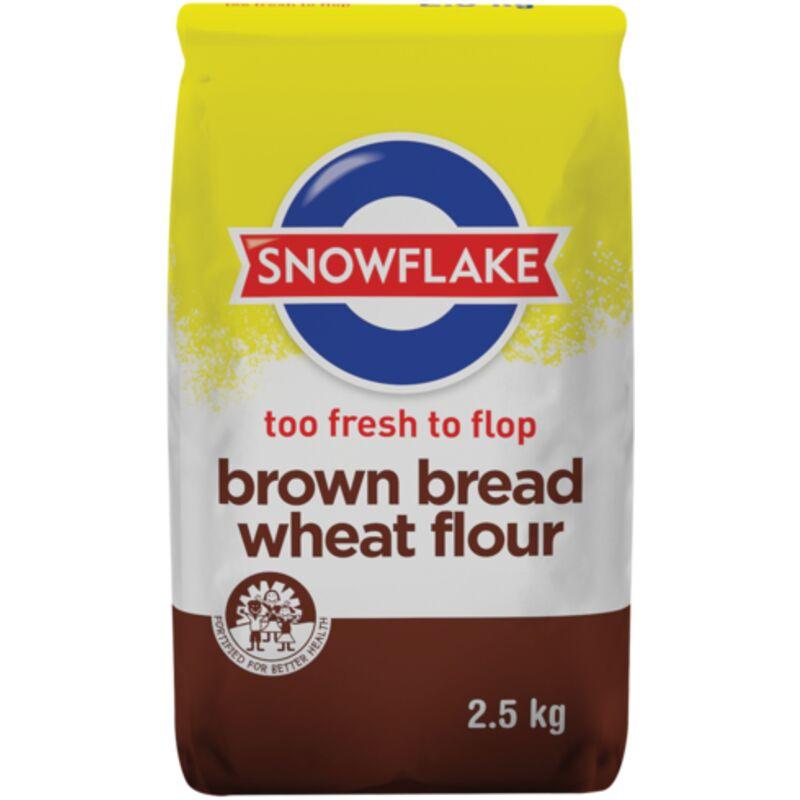 SNOWFLAKE FLOUR BREAD BROWN – 2.5KG