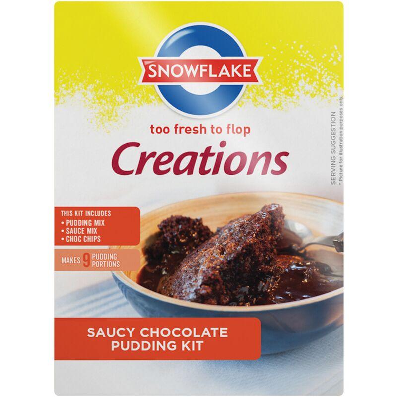 SNOWFLAKE CREATIONS SAUCY CHOCOLATE PUDDING – 510G