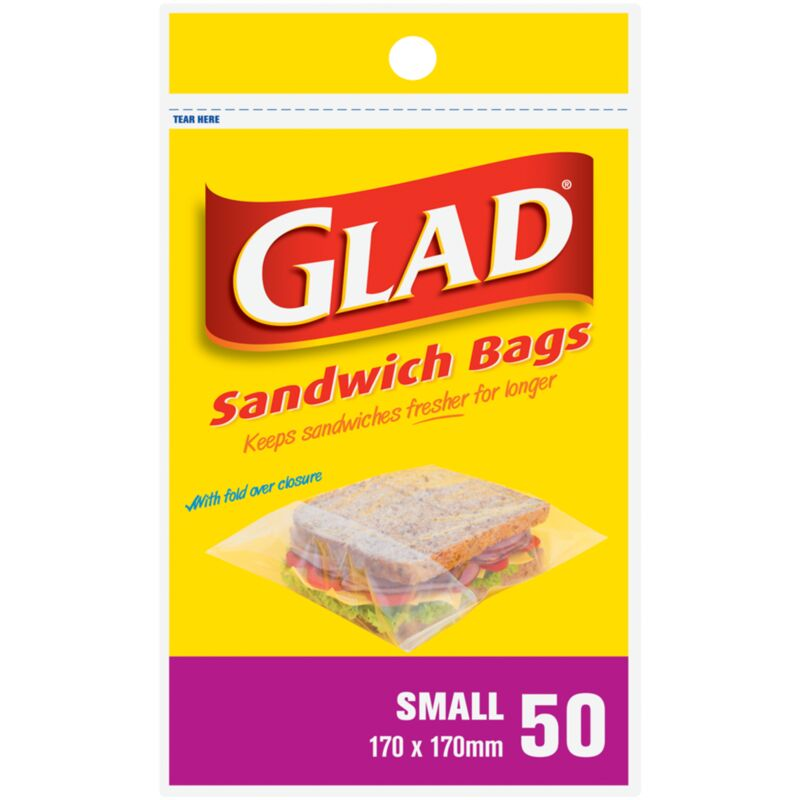 GLAD SANDWICH BAGS SMALL – 50S