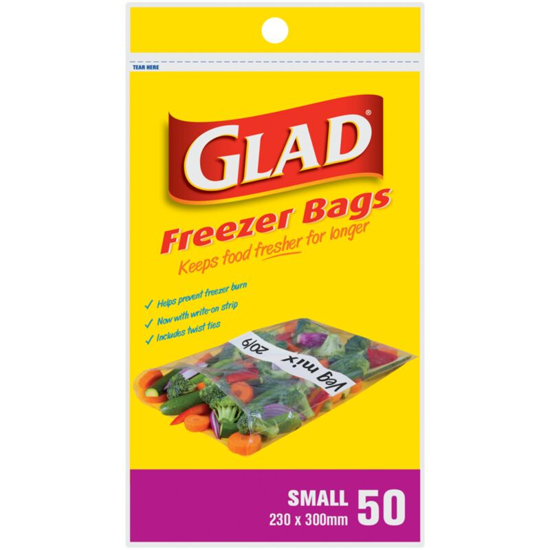 GLAD FREEZER BAGS SMALL – 100S