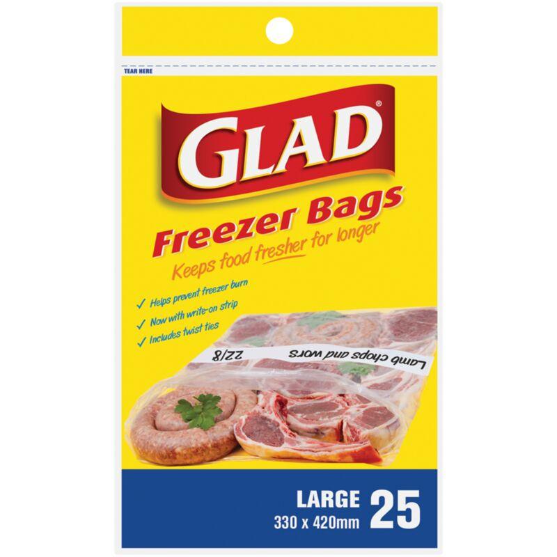 GLAD FREEZER BAGS LARGE – 25S