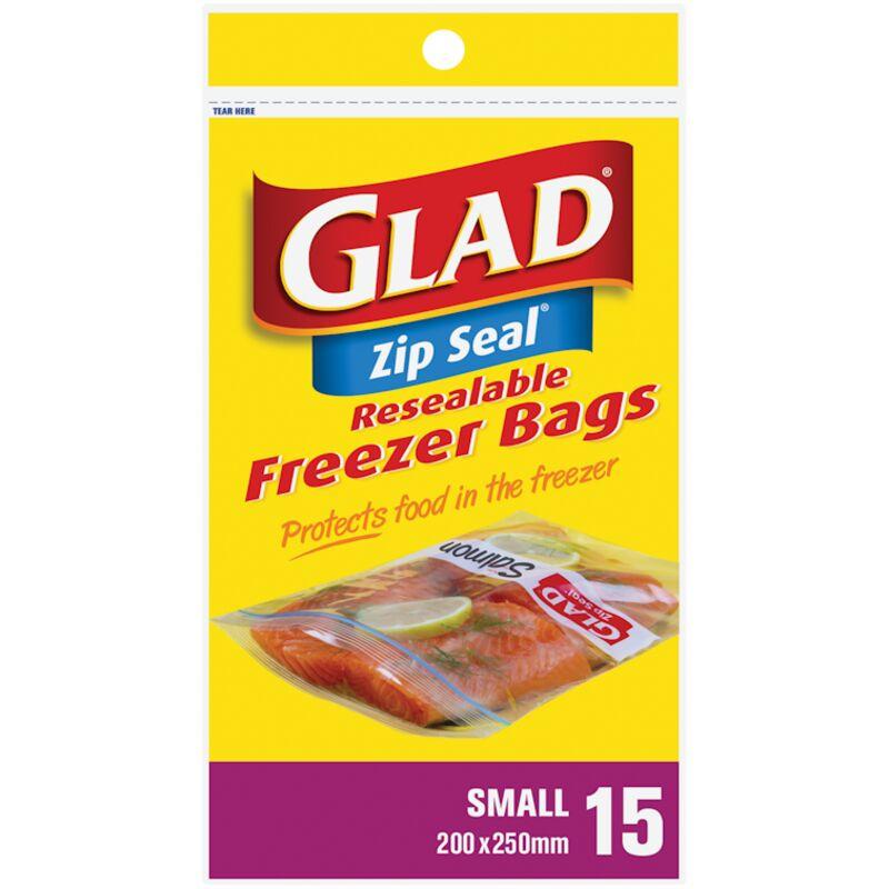 GLAD FREEZER ZIPPER SMALL 175 MM X 145MM – 15S