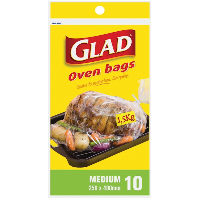 GLAD OVEN BAGS 250MM X 400MM – 10S