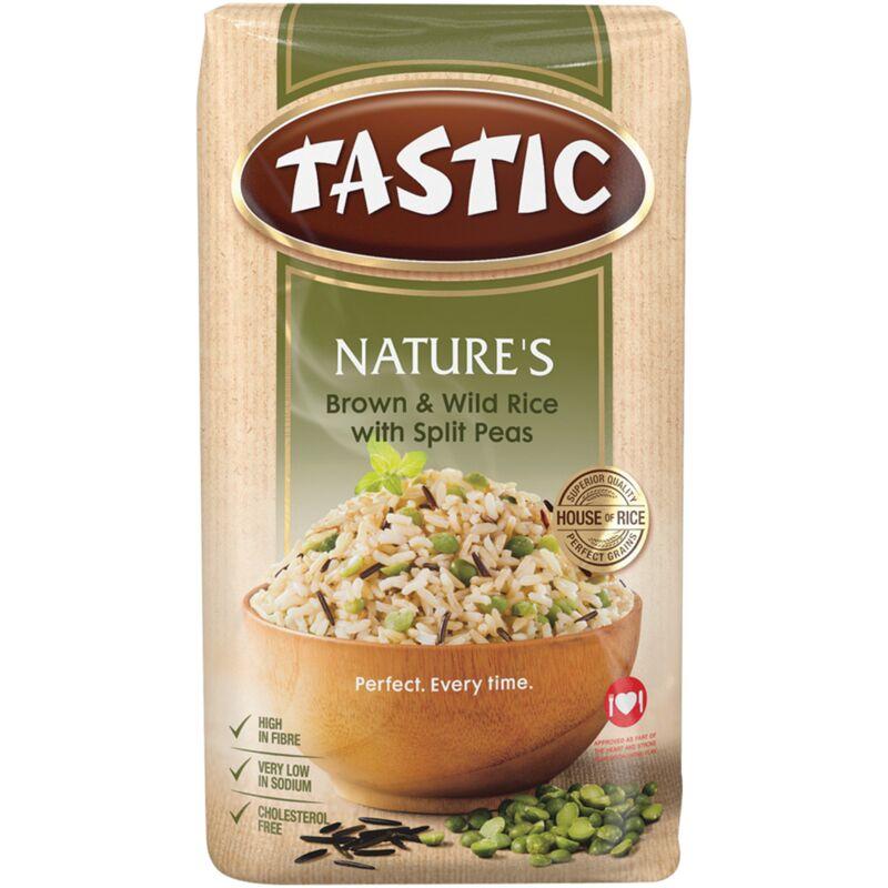 TASTIC NATURE BROWN & WILD RICE WITH SPLIT PEAS – 1KG