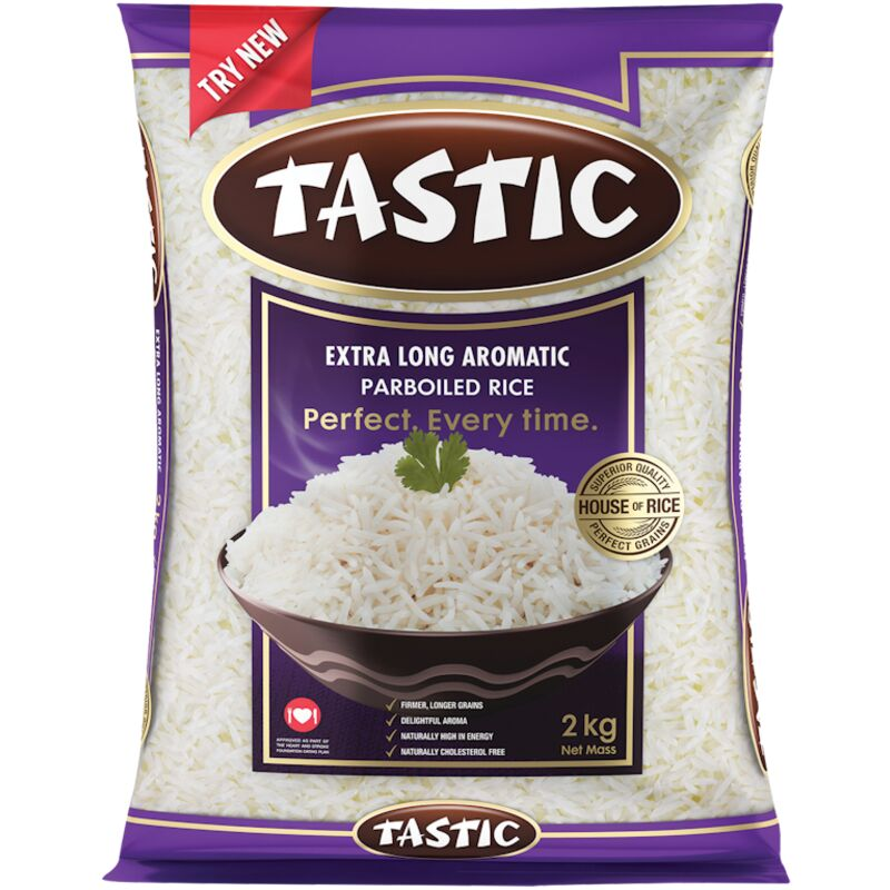TASTIC AROMATIC PARBOILED EXTRA LONG GRAIN RICE – 2KG