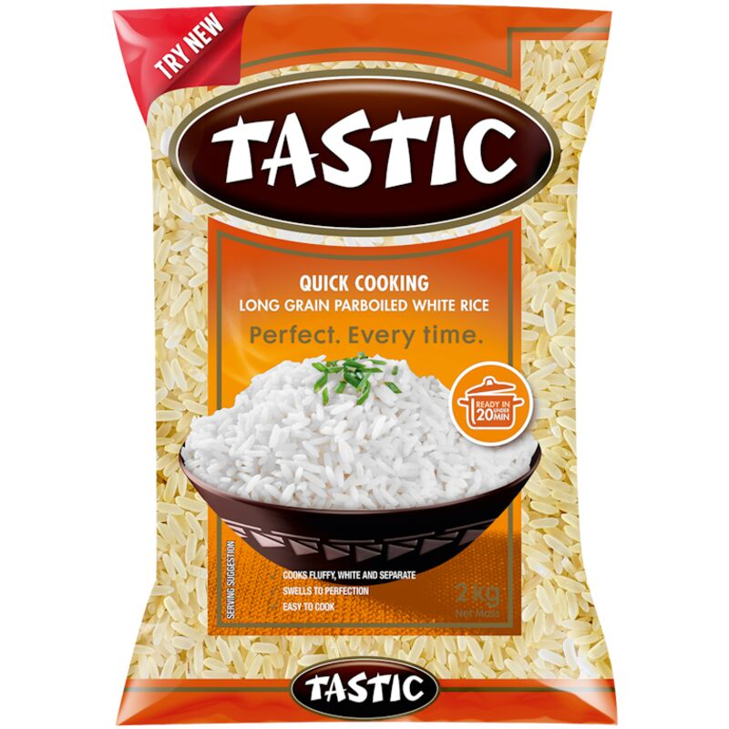 TASTIC RICE QUICK COOKING PARBOILED – 2KG