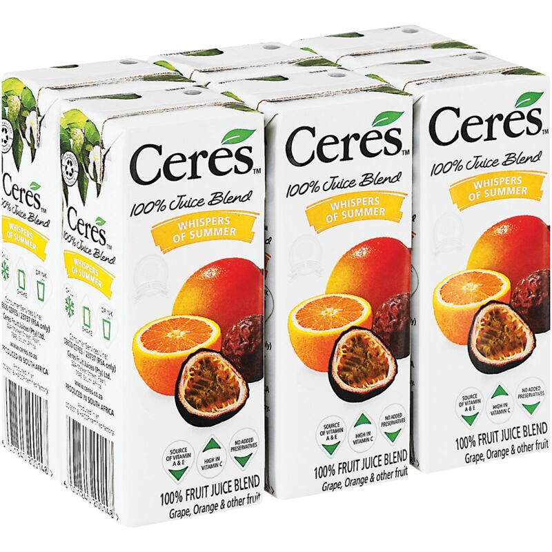 CERES FRUIT JUICE WHISPERS OF SUMMER 6S – 200ML