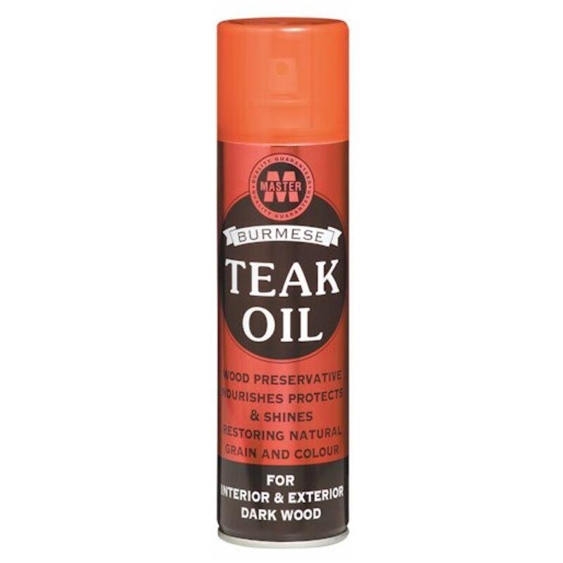 MASTER BURMESE TEAK OIL AEROSOL FOR DARK WOOD RED – 270ML