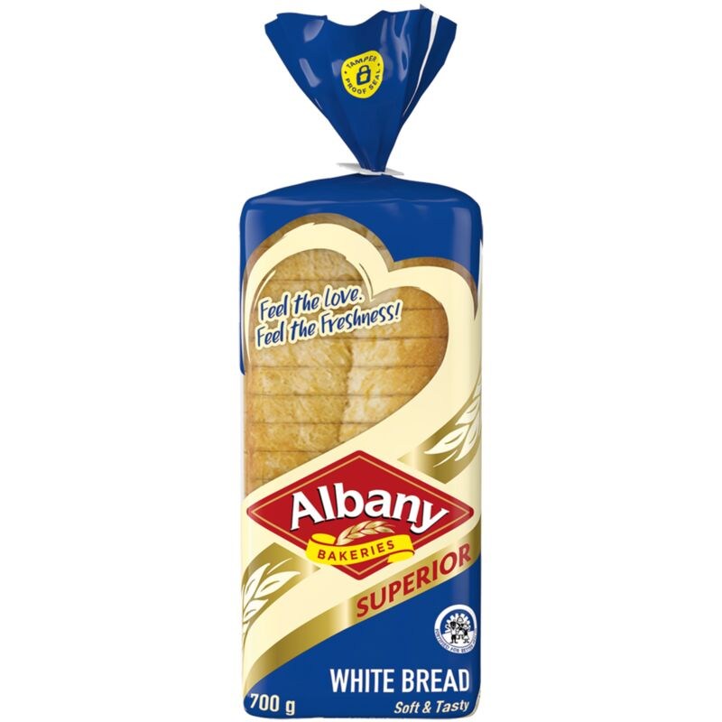 ALBANY BREAD WHITE SLICED – 700G