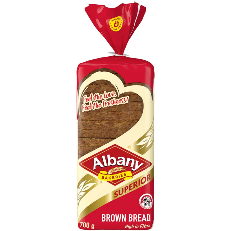 ALBANY SUPERIOR BROWN BREAD – 700G