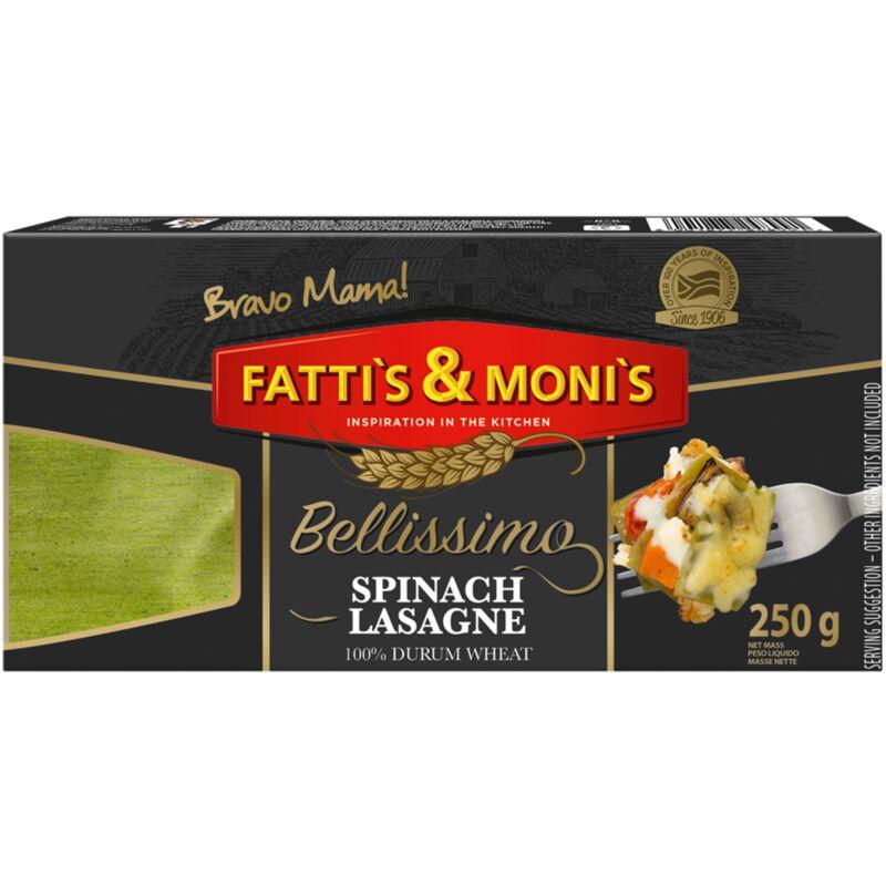 FATTIS & MONIS BELLISSIMO SPINACH LASAGNE – 250G