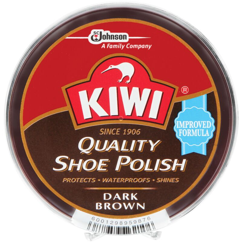 KIWI SHOE POLISH DARK BROWN – 100ML