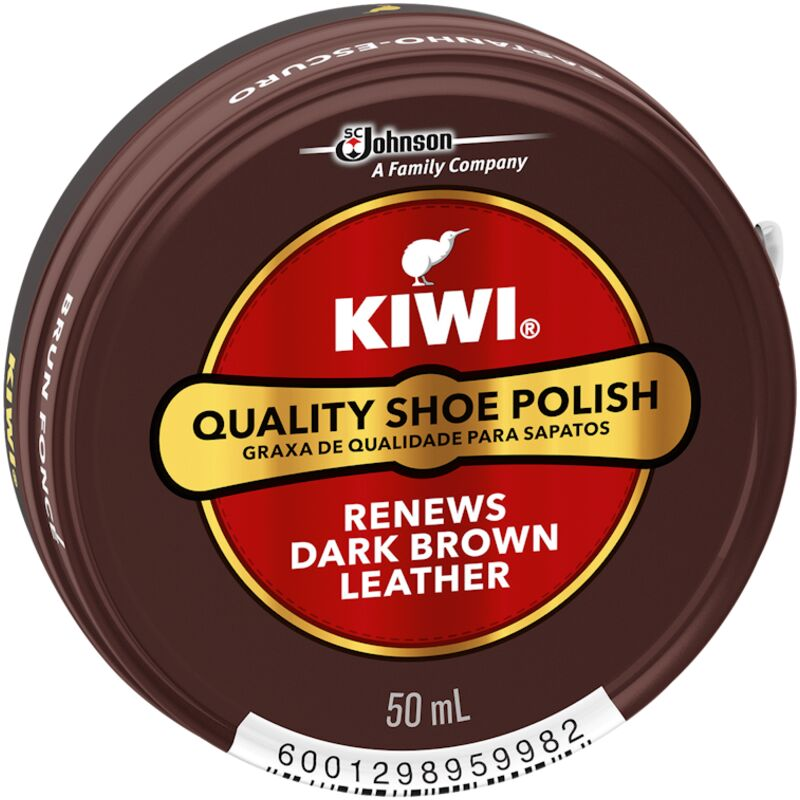 KIWI SHOE POLISH DARK BROWN – 50ML