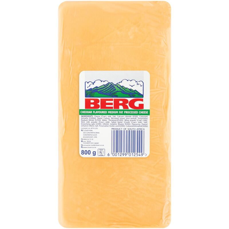 CLOVER BERG CHEESE PROCESSED – 800G
