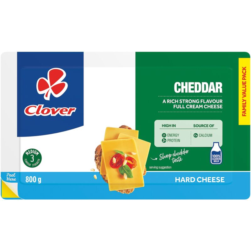 CLOVER CHEESE CHEDDAR – 800G