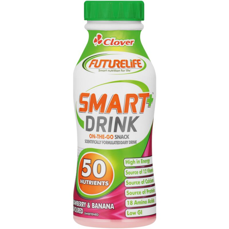 CLOVER ACTIVE DRINK STRAWBERRY & BANANA – 250ML