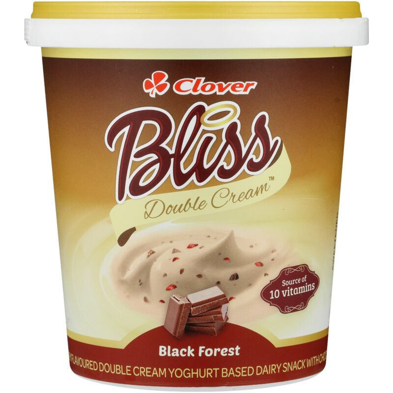CLOVER BLISS YOGHURT DOUBLE CREAM BLACKFOREST – 1L