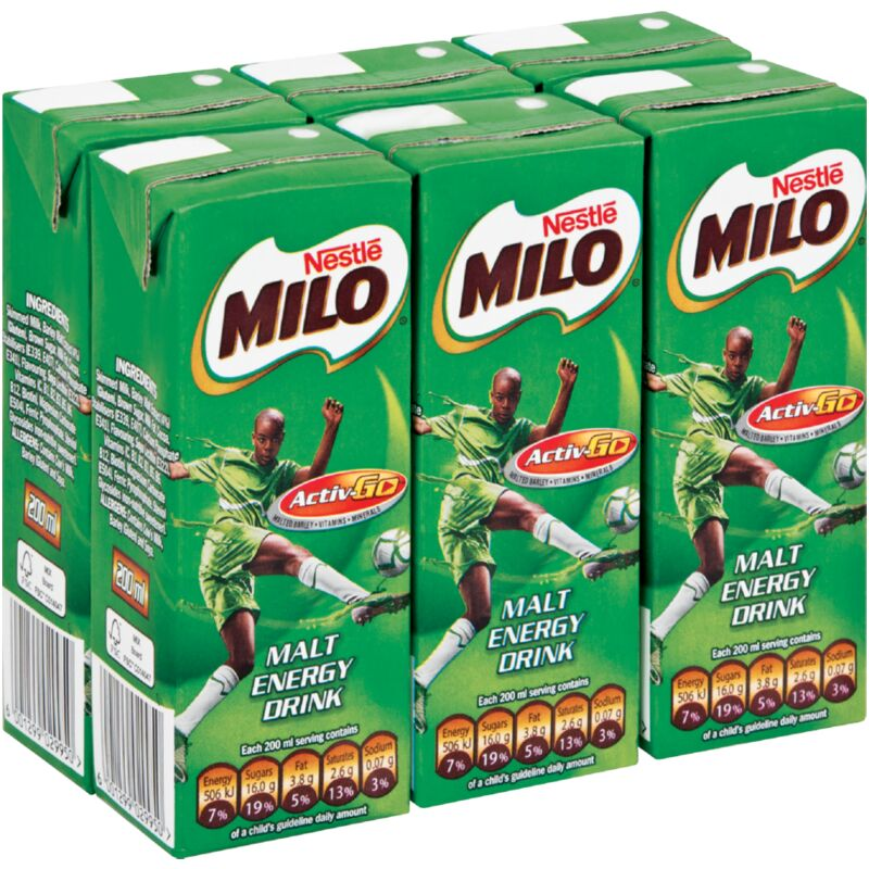 MILO FLAVOURED MILK CHOCOLATE 6S – 200ML