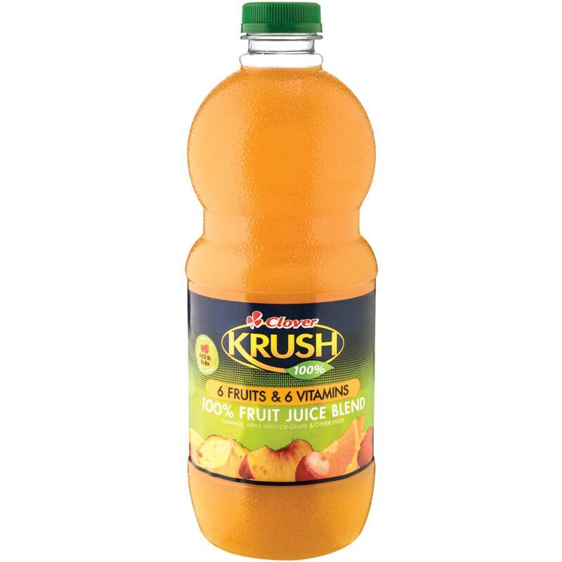 KRUSH 100% SIX FRUIT SIX VITAMINS FRUIT JUICE BLEND – 1.5L