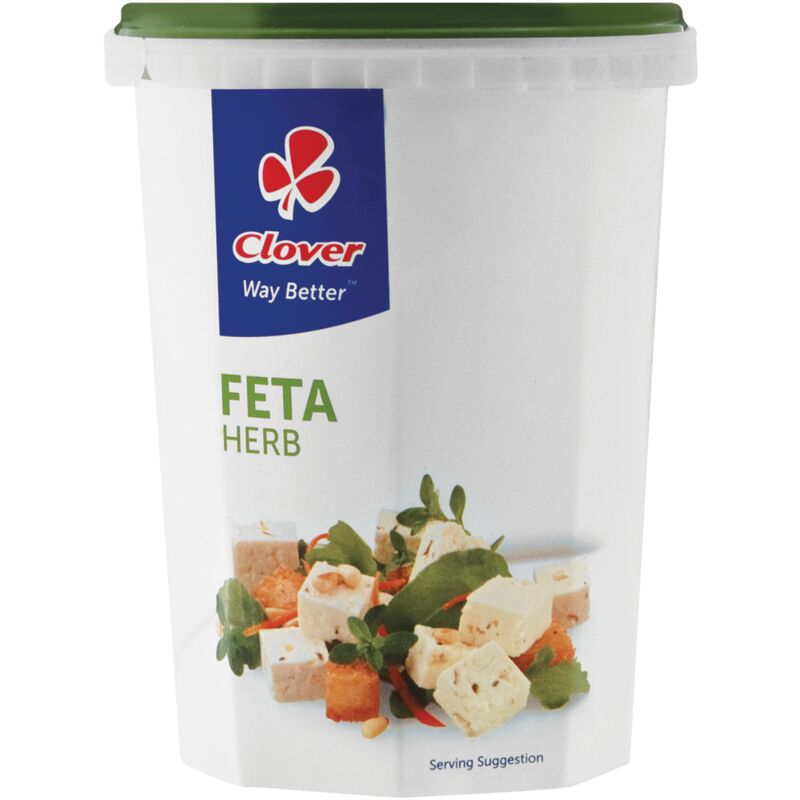 CLOVER FETA CHEESE TRADITIONAL HERB – 400G