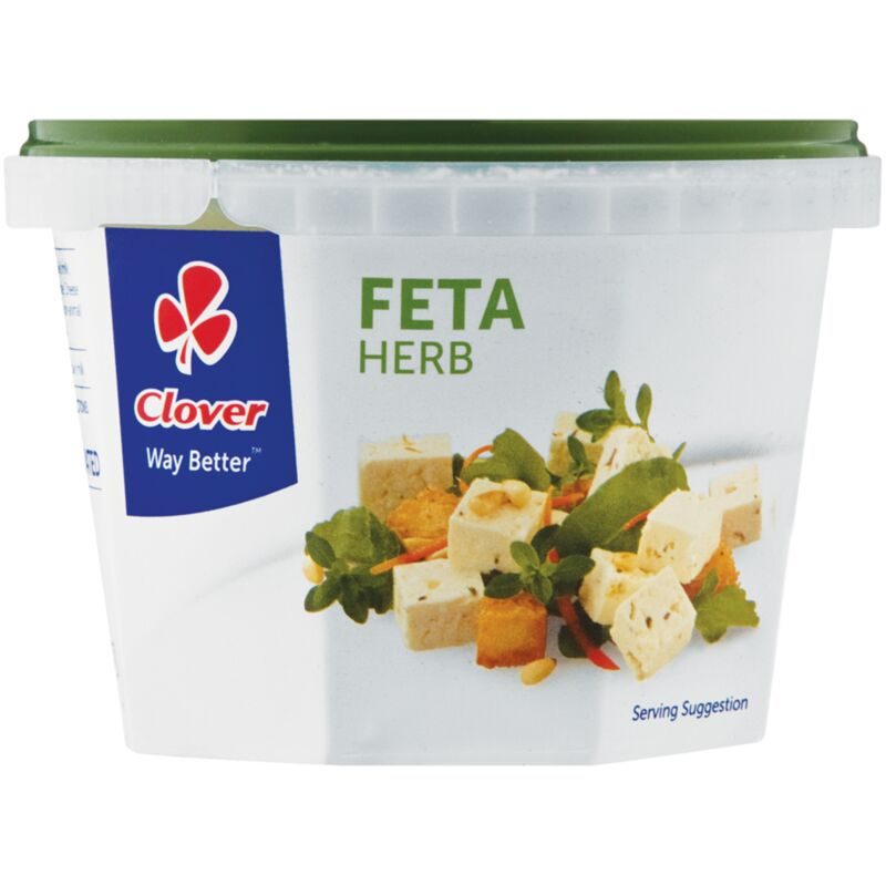 CLOVER FETA CHEESE TRADITIONAL HERB – 200G
