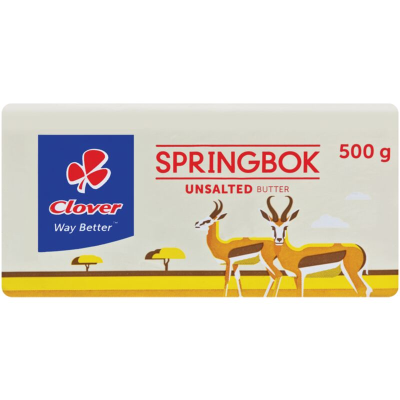 SPRINGBOK BUTTER UNSALTED – 500G
