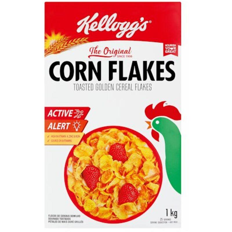 KELLOGGS CORN FLAKES TOASTED GOLDEN FLAKES – 1KG