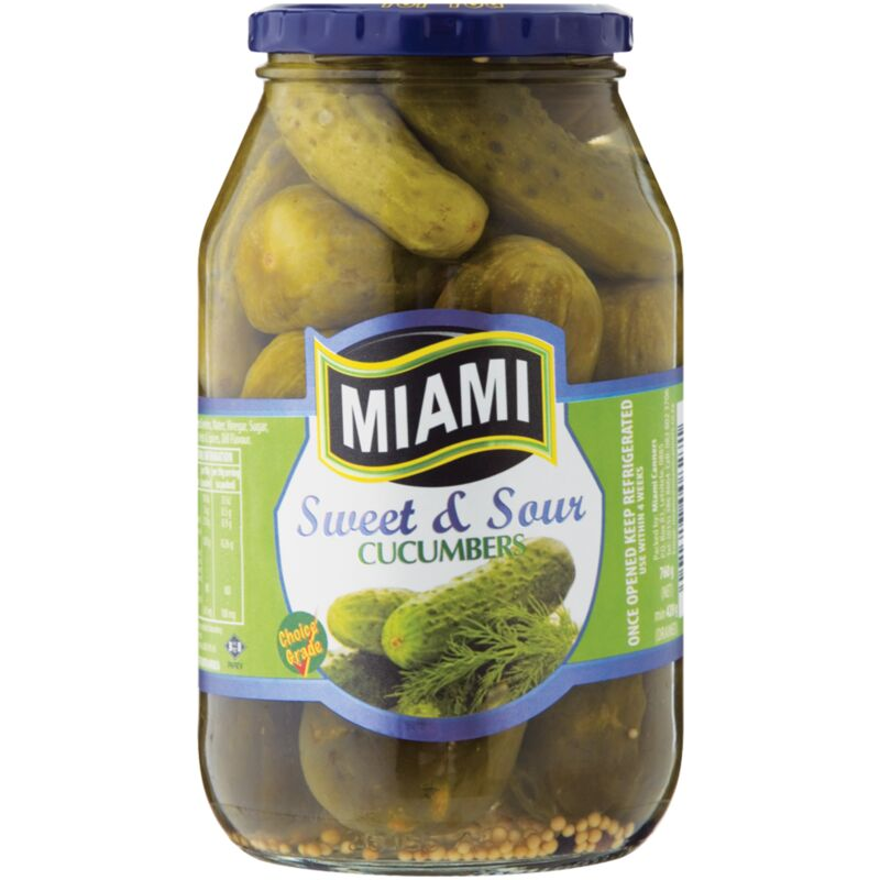 MIAMI CUCUMBERS SWEET & SOUR – 800G