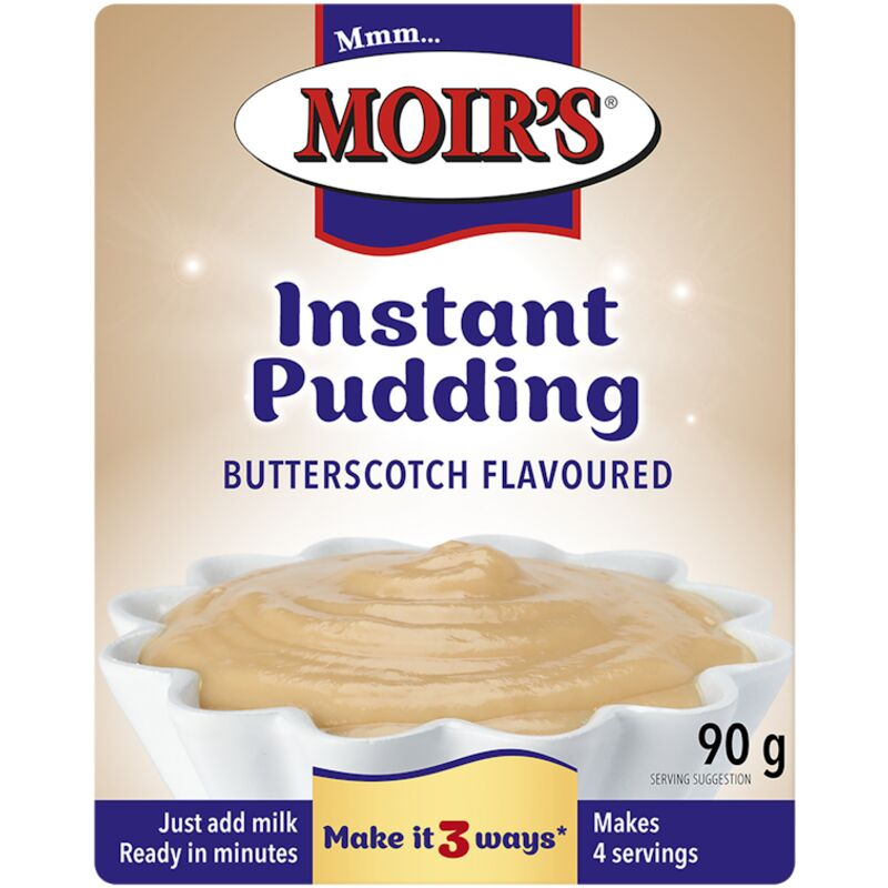 MOIRS INSTANT PUDDING BUTTERSCOTCH – 90G