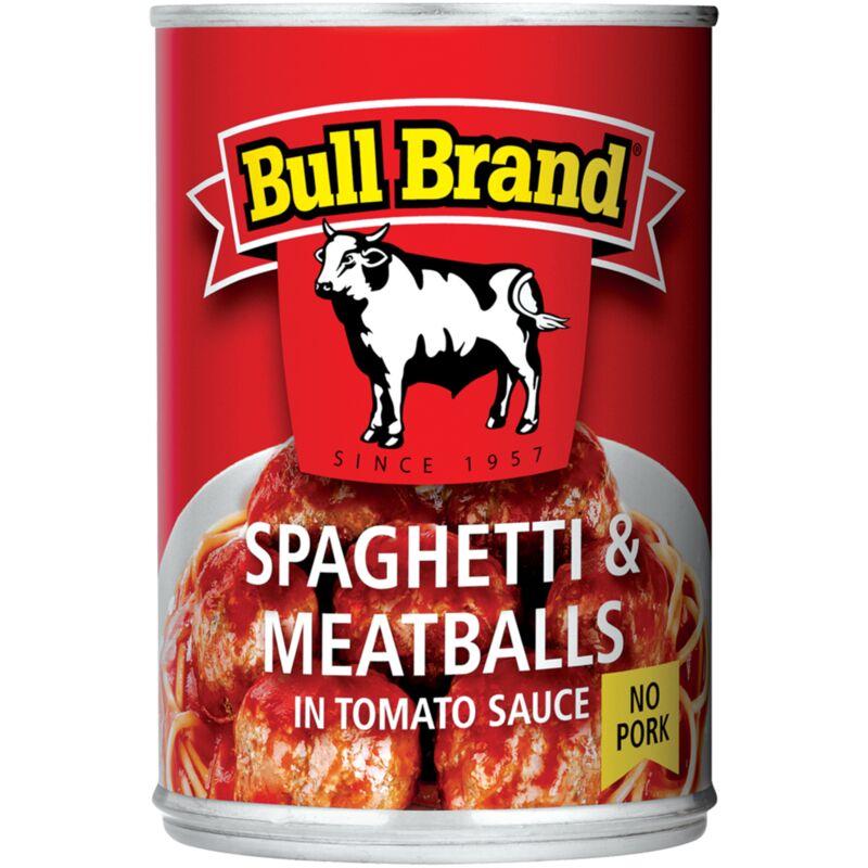 BULL BRAND SPAGHETTI & MEATBALLS – 400G