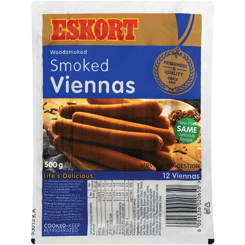 ESKORT VIENNAS SMOKED – 500G