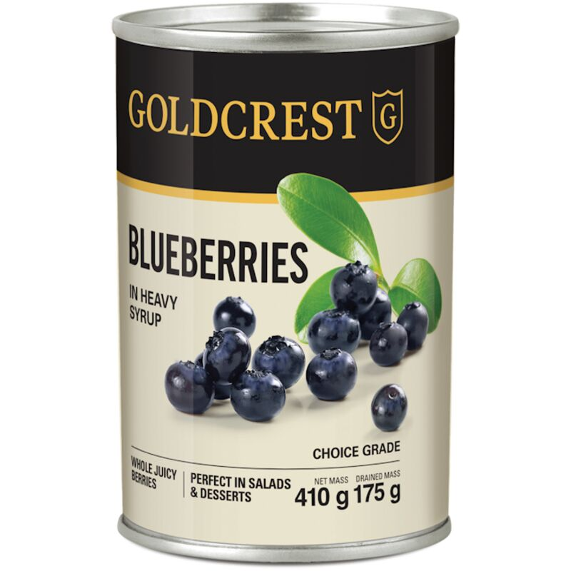 GOLDCREST BLUEBERRY IN SYRUP – 410G