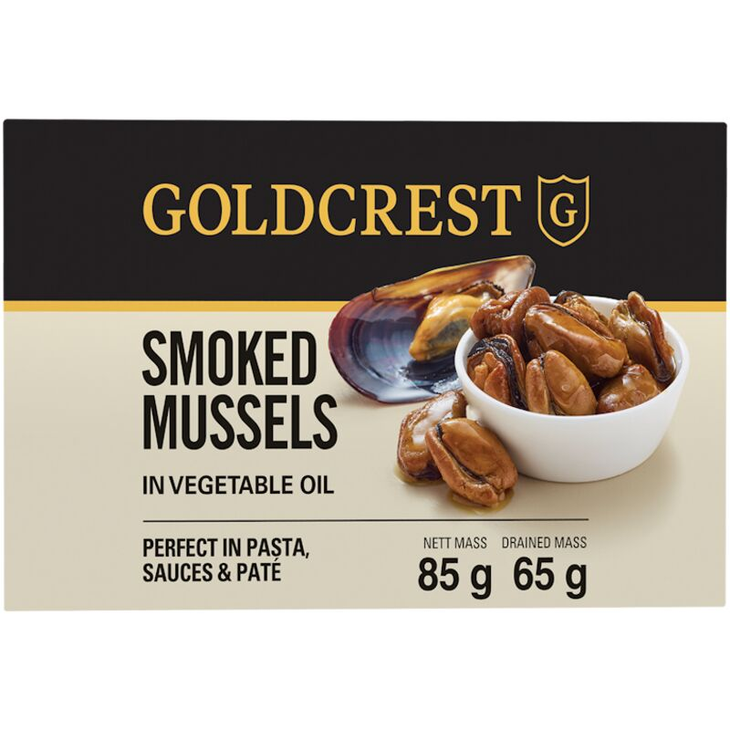 GOLDCREST MUSSELS SMOKED – 85G