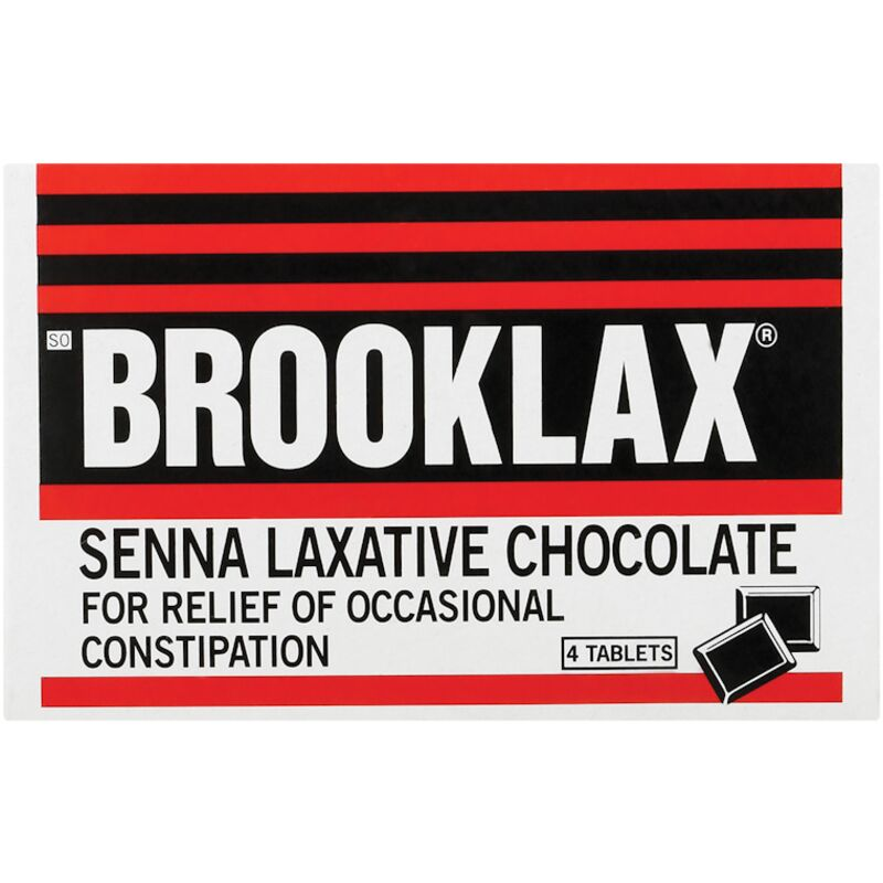 BROOKLAX CHOCOLATE LAXATIVE TABLETS – 4S