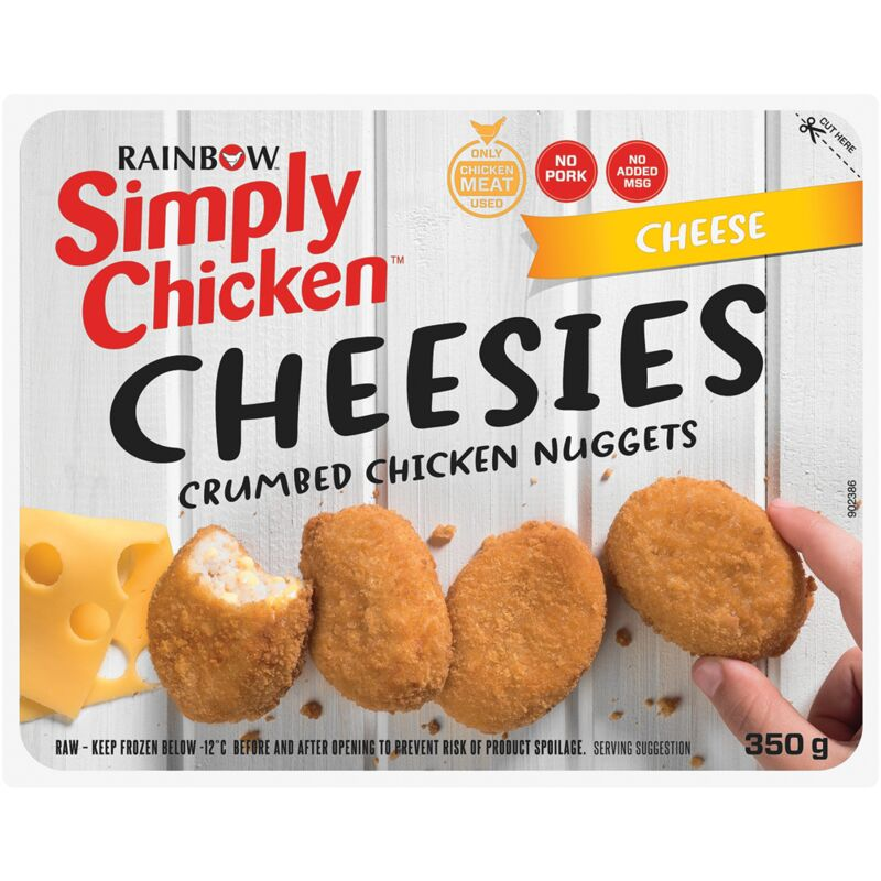 SIMPLY CHICKEN NUGGETS CHEEZY – 350G