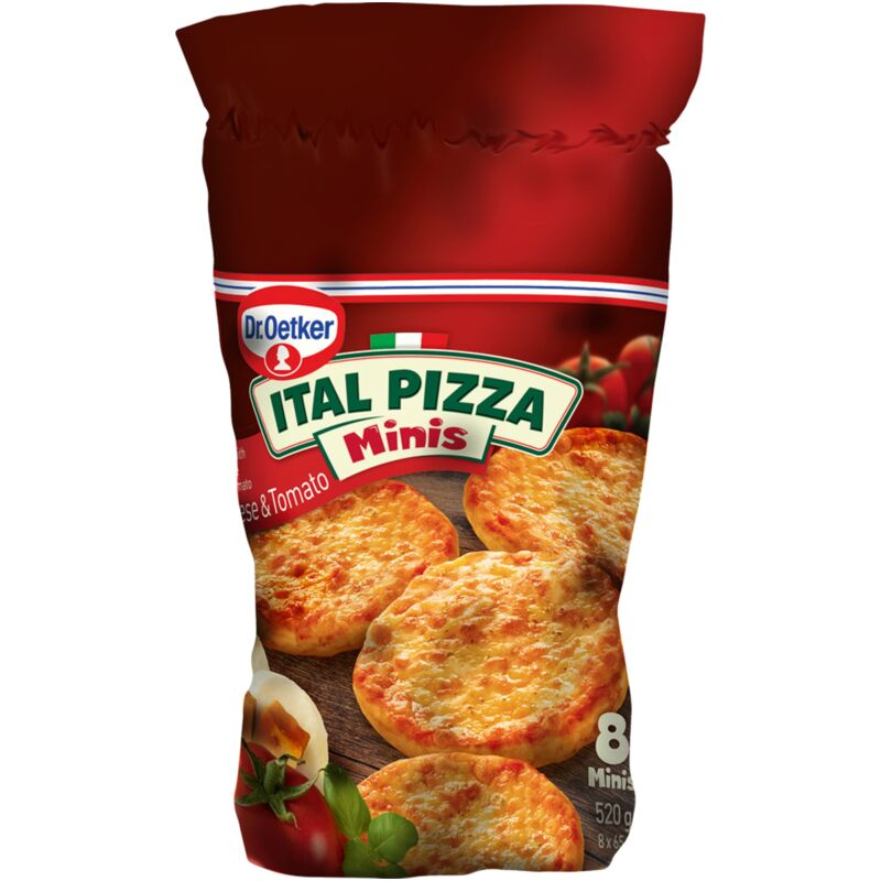 DR OETKER ITAL PIZZA CHEESE & TOMATO MINIS – 520G
