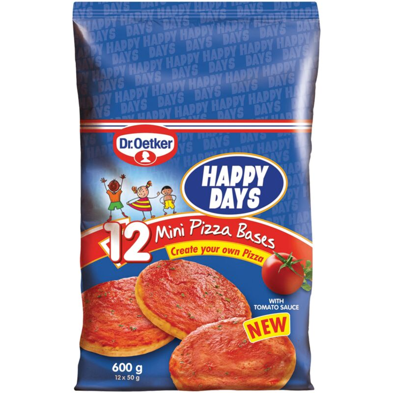 DR OETKER HAPPY DAYS MINI PIZZA BASES 12S – 600G