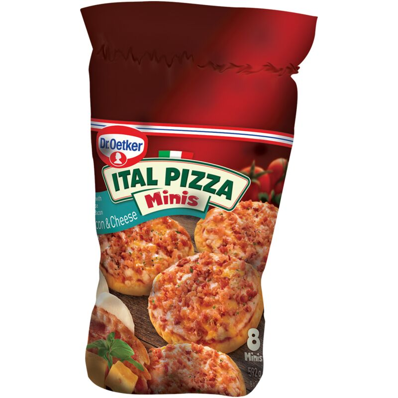 DR OETKER ITAL PIZZA BACON & CHEESE MINIS – 592G