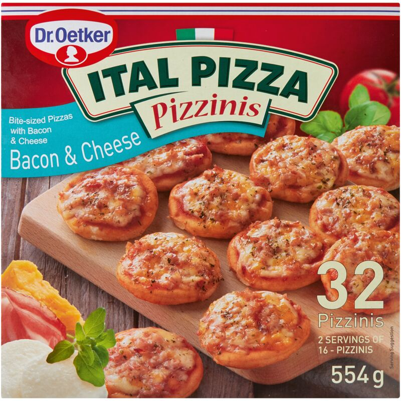 DR OETKER ITAL PIZZA PIZZINIS BACON & CHEESE – 554G