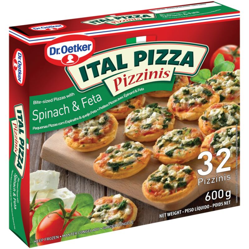DR OETKER ITAL PIZZA PIZZINIS SPINACH & FETA – 600G