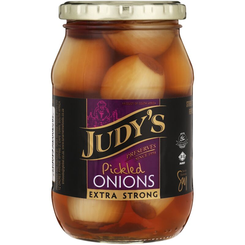 JUDYS PICKLED ONIONS EXTRA STRONG – 410G