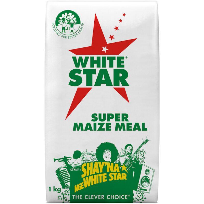 WHITE STAR SUPER MAIZE MEAL (PAPER WRAP BAG) – 1KG