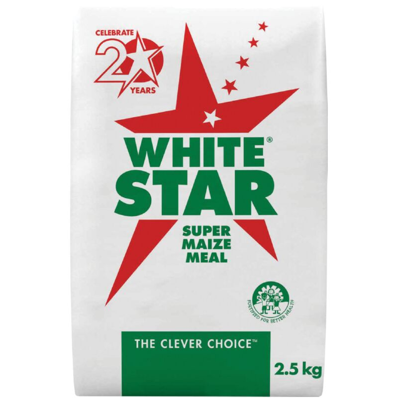 WHITE STAR SUPER MAIZE MEAL PA – 2.5KG